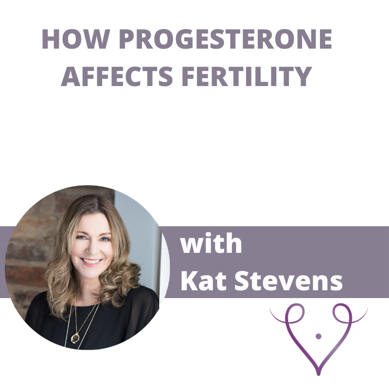 how progesterone affects fetility